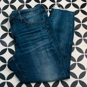 Universal Thread High Rise Jeggings raw hem jeans